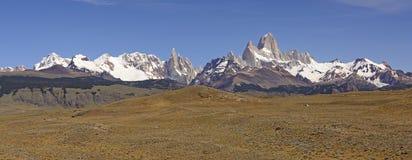 Patagonian Mountain Panorama Stock Photos
