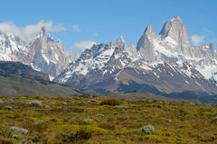 Patagonian Peaks, Fitz Roy, Argentina Royalty Free Stock Photography