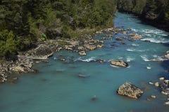 Patagonian Rivier royalty-vrije stock foto's