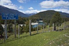 Patagonian rzeki Zdjęcie Royalty Free