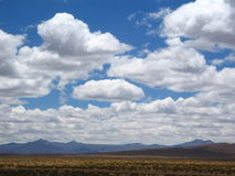 Patagonian SKy. Blue Puffy Clouds in patagonian sky Royalty Free Stock Photography