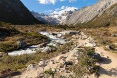 Patagonian trekking Royaltyfri Bild