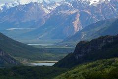 Patagonian Valley, Fitz Roy, Argentina Stock Photos