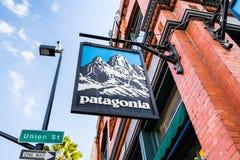 Patagoniazeichen lizenzfreie stockfotografie