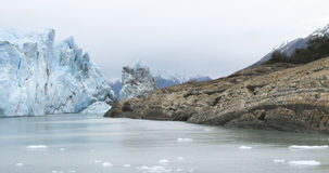 Patagonin landscape with glacier and rocks. Argentina Stock Image