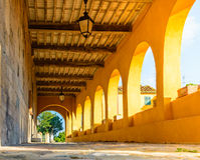 Patamar medieval italiano, Toscânia, Itália Foto de Stock Royalty Free
