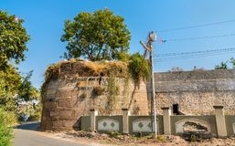 Patan -古杰雷特,印度的古城墙壁 免版税库存照片
