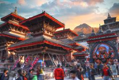 Patan. Ancient city in Kathmandu Valley. Nepal Royalty Free Stock Photo