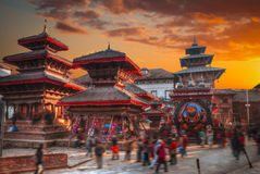 Patan. Ancient city in Kathmandu Valley. Nepal Stock Image