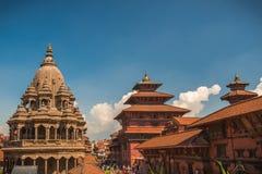 Patan, cidade metropolitana de Lalitpur, Nepal foto de stock royalty free