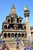 在Patan Durbar广场的寺庙 库存照片