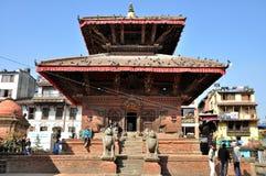 在Patan Durbar广场的寺庙 免版税库存图片