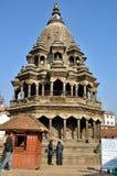 在Patan Durbar广场的寺庙 免版税图库摄影