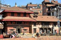 在Patan Durbar广场的寺庙 库存图片
