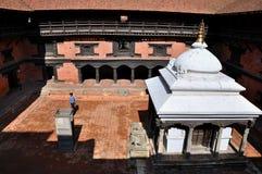 Patan Durbar广场的博物馆 库存照片