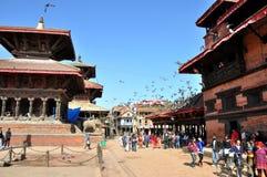 Patan Durbar广场 免版税图库摄影