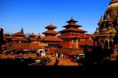 Patan Durbar广场, Lalitpur 免版税库存图片