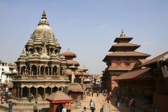 Patan Durbar fyrkant, Nepal Royaltyfria Bilder