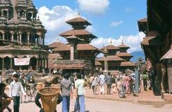 1975. Patan,加德满都,尼泊尔。 图库摄影