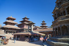 Patan Durbar Quadrat, Nepal Lizenzfreie Stockfotos