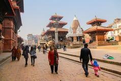 Patan durbar quadratisches Katmandu Nepal Stockbilder