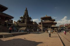 Patan durbar square kathmandu nepal Stock Photos