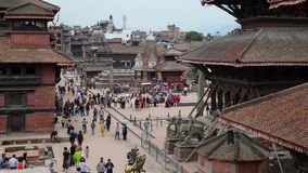 Patan Durbar Square in Nepal, stock footage