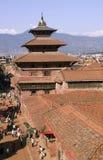 patan kunglig person för nepal slott fotografering för bildbyråer