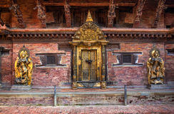 Patan Museum architecture. Architectural details of  the  Patan Museum  building former Royal Palace, Patan Durban Square, Kathmandu, Nepal Stock Photos