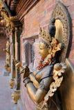 PATAN, NEPAL: Escultura da deusa Mul Chowk em Royal Palace, quadrado de Durbar imagem de stock