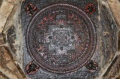 Patan, Nepal, October, 09, 2013, Nepali  Scene: ancient mandala in the monastery Kwa Bahal Stock Photography