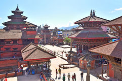 Patan, Nepal, October, 09, 2013, Nepali  Scene: people walking on Durbar square in Patan Stock Photography