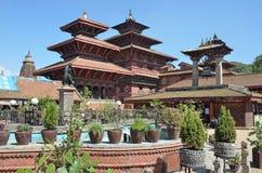Patan Nepal, trädgård i Royal Palace på den forntida Durbar fyrkanten I kan fyrkantig parti 2015 Royaltyfri Bild