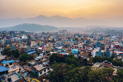 Patan at sunset in Nepal Royalty Free Stock Image