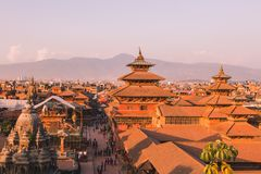 Patan Temple,Patan Durbar Square is situated at the centre of Lalitpur ,Nepal. It is one of the three Durbar Squares in the. Kathmandu Valley, all of which are stock image