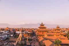Patan Temple,Patan Durbar Square is situated at the centre of Lalitpur ,Nepal. It is one of the three Durbar Squares in the. Kathmandu Valley, all of which are stock photo
