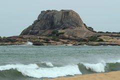 Patanangala,岩石在Yala国家公园 库存图片