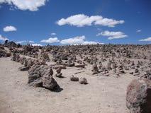 Patapampa in de Andes, Peru Royalty-vrije Stock Foto's