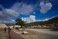 Patara古城废墟在卡斯,安塔利亚,土耳其 免版税库存照片