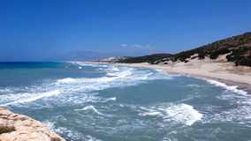 Patara beach on the Mediterranean coast of Turkey stock footage