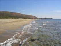 Patara wyrzucać na brzeg - jeden piękna naturalna plaża w Indyczym i popularnym turystycznym miejsce przeznaczenia w Antalya prow fotografia stock