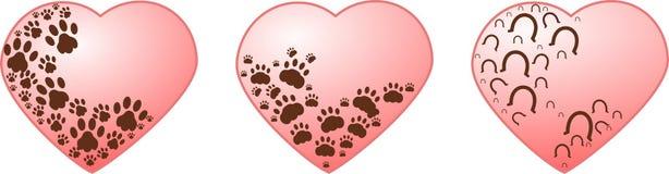 Patas da sagacidade dos corações Imagem de Stock Royalty Free