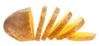 Patata affettata Fotografia Stock Libera da Diritti