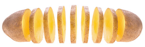 Patata affettata Fotografie Stock