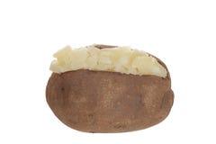 Patata al forno isolata fotografia stock