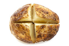 Patata al forno isolata su bianco Immagini Stock