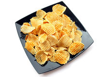 Patata Chip-Isolata Fotografia Stock