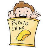 Patata Chip Kid Immagini Stock