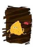 Patata Chips Character Imágenes de archivo libres de regalías