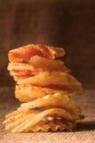 Patata Chips Warm Light Fotografía de archivo